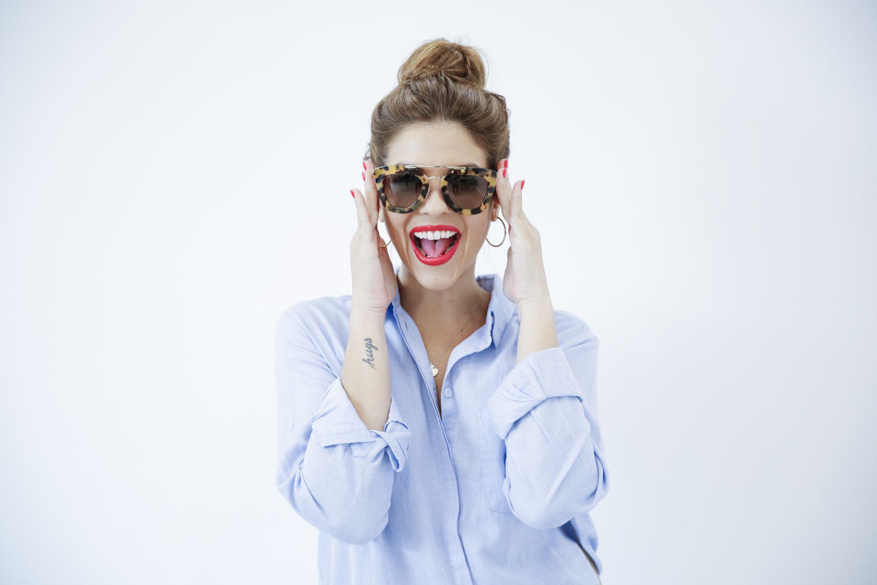 outfit look primavera spring camisa oxford zara calzedonia Yves saint laurent bolso bag prada sunglasses verona street style trendy taste_6