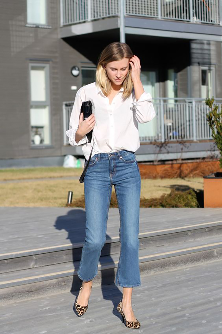 cropped flare jeans4