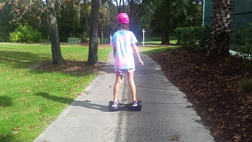 Sophie On Ben's New Hoverboard