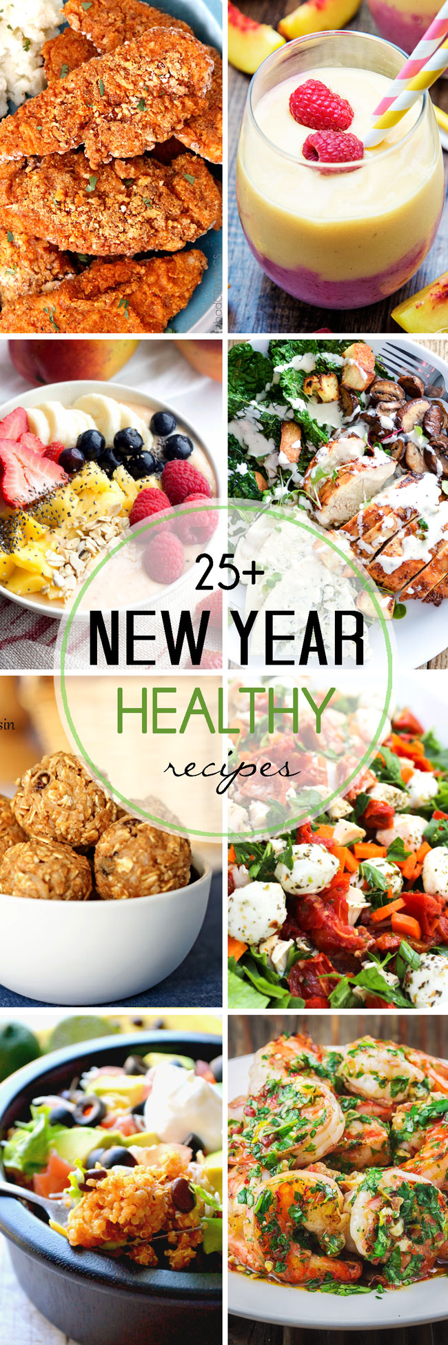 a collection of healthy recipes to kick of the new year