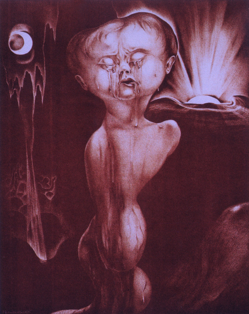 "Alberto Martini - Birth - Human Suffering, from ""Mysteries,"" six lithographs, 1923"