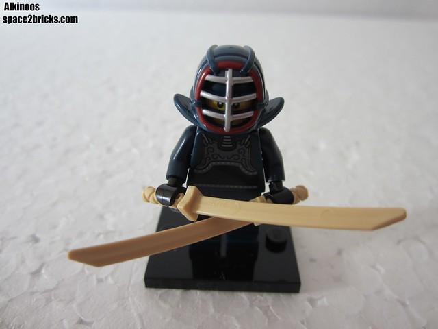 Lego Minifigures S15 le lutteur de kendo p1