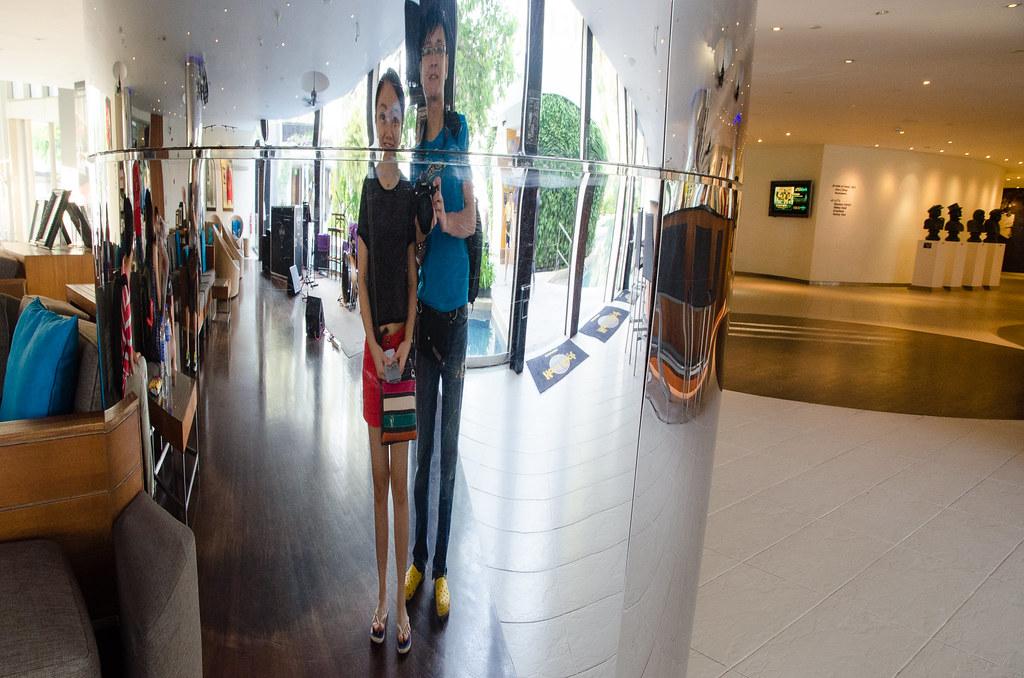 Mirror make us so thin at Hard Rock Hotel