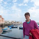Claudio en el puerto de Bari