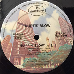 KURTIS BLOW:RAPPIN' BLOW(LABEL SIDE-A)