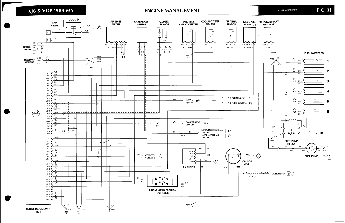 Ecu Wiring Schematic Xj40 B 1989 By Db On Flickr