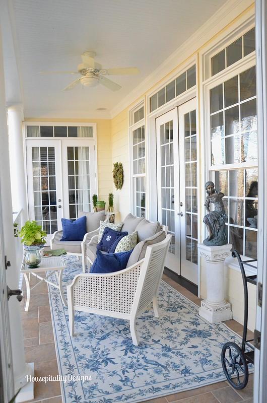 Upper Porch - Housepitality Designs