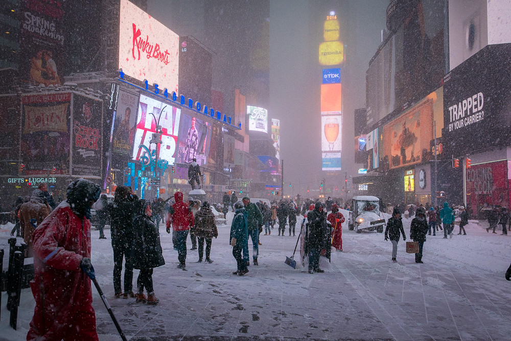Times Square blizzard