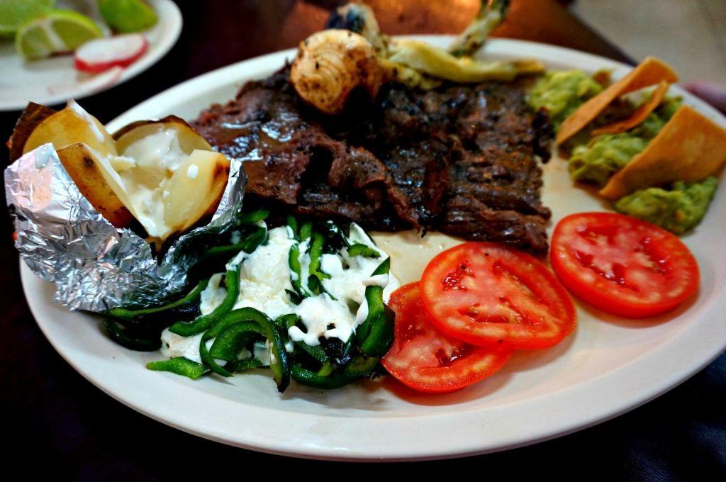 Arrachera Platter - marinated grill flank steak