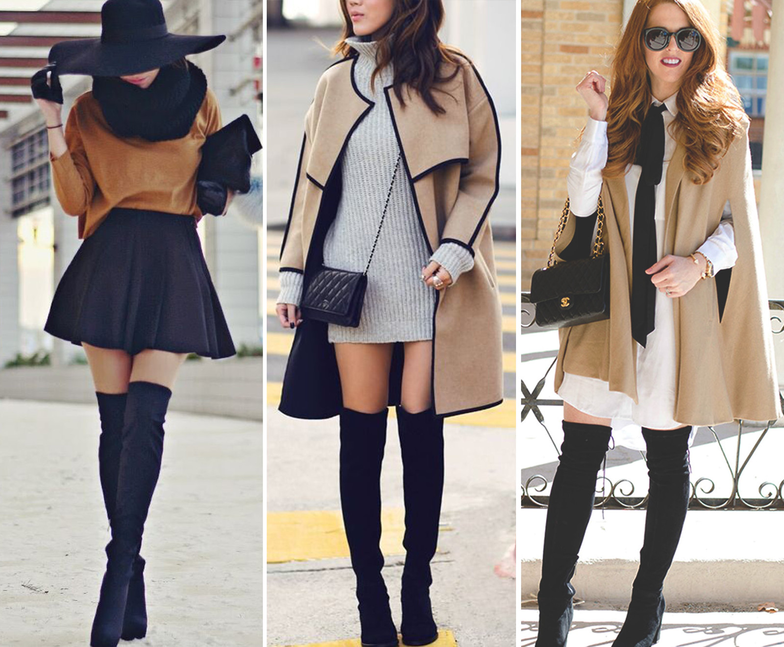 f0a4170a5c16 Over the knee boots trend inspiration by Fashion Artista