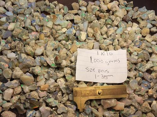 Mine run grade mix quality Welo Ethiopia opal rough parcels