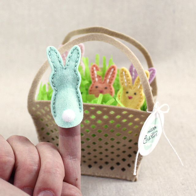 Bunny Finger Puppet Back