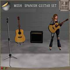 RnB Mesh Spanish Guitar Set -Rezz Guitar, Animations, Music & LO Radio- 3