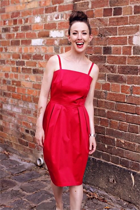 Red Vintage Dress #2