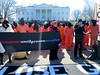 Jeremy Varon of Witness Against Torture calls for the closure of Guantánamo outside the White House, Jan, 11. 2016