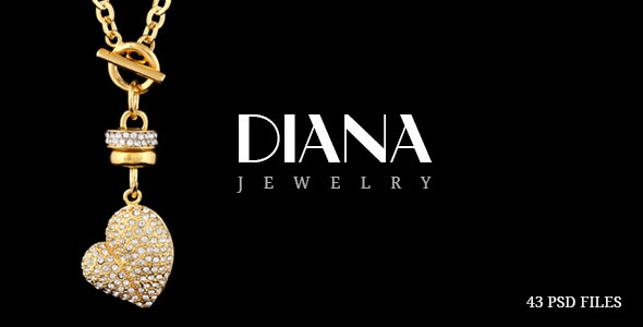 Themeforest Diana – Creative Jewelry PSD Template