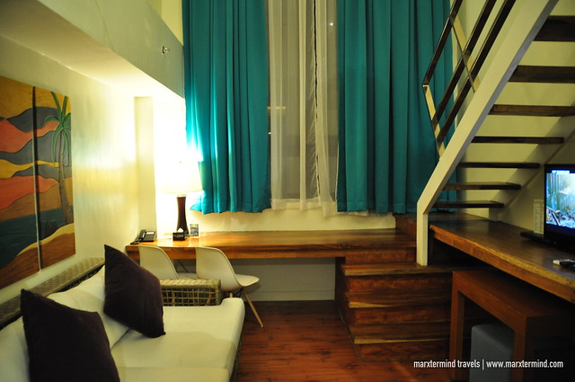 Sofa at One Bedroom Loft Ferra Hotel Boracay