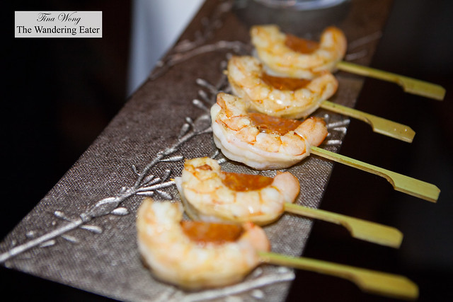 Shrimp wth chorizo