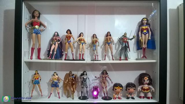 Maior coleção de itens da Mulher-Maravilha