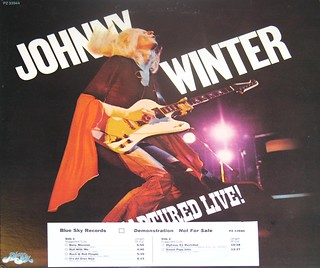 Johnny Winter Captured Live Promo LP