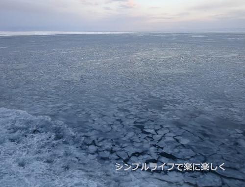 流氷、おーろら号出港直後