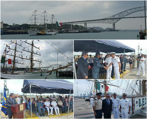 """El buque-escuela mexicano """"Cuauhtémoc"""" arriba a Panamá"""