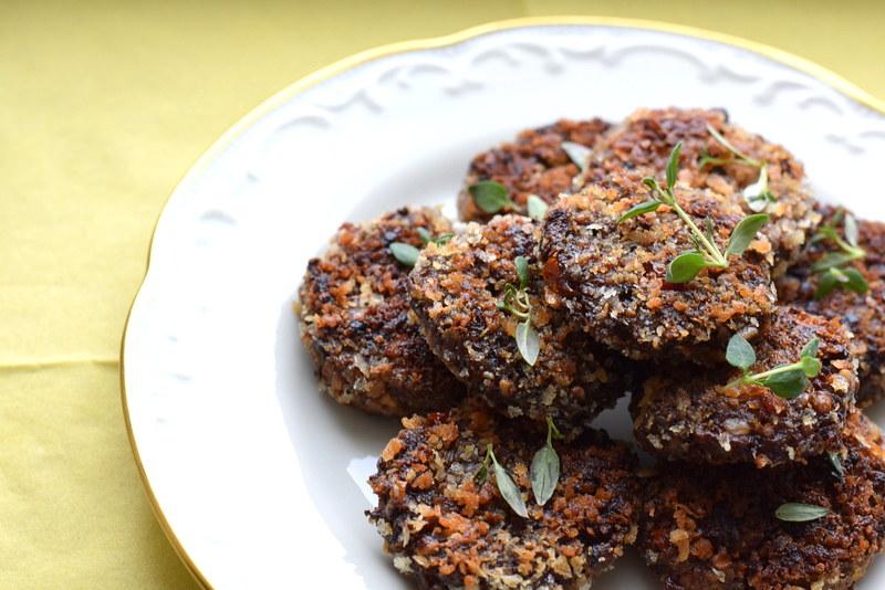 vegansk påskbuffé, svampbollar