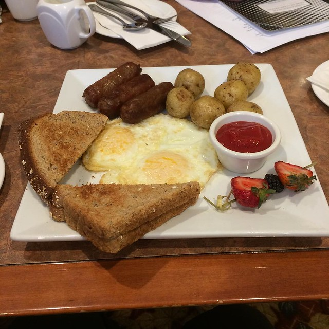Breakfast - those are beef sausages #yegfood