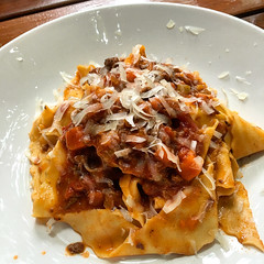 Lunch! Delicious lamb ragu pappardelle at Royal Sa…