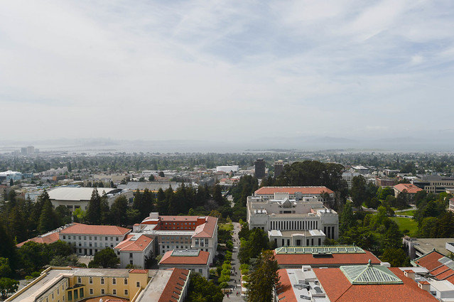 view from the top of sather tower