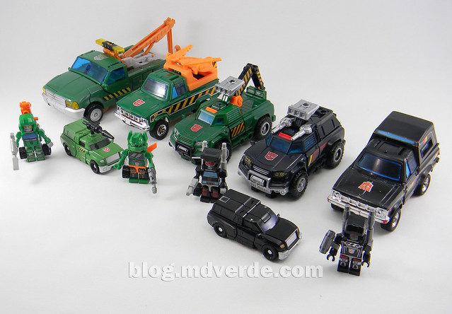 Transformers Hoist Deluxe - Generations Takara - modo alterno vs otros Hoist & Trailbreakers