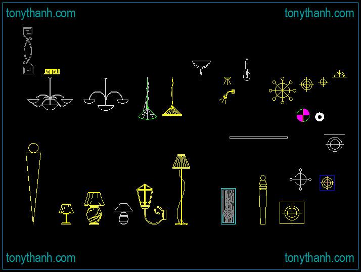 Tonythanhcd02s most recent flickr photos picssr decorative lights cad block light lamp chandelier cad block mozeypictures Images