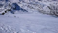 Zjazd lodowcem Gran Paradiso. Dość twardo.