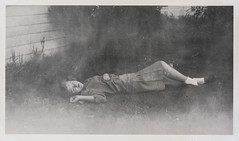 Young woman lying on the ground 1