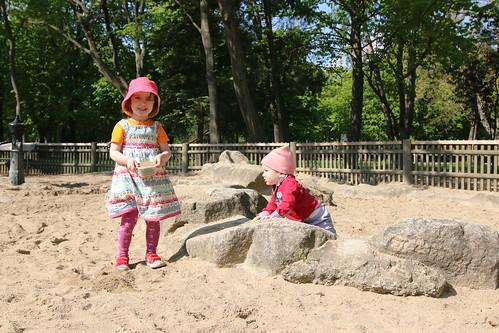 Praterstern Park sandpit