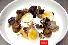 Roasted Potatoes, Quail Eggs, Dashi & Mushroom…