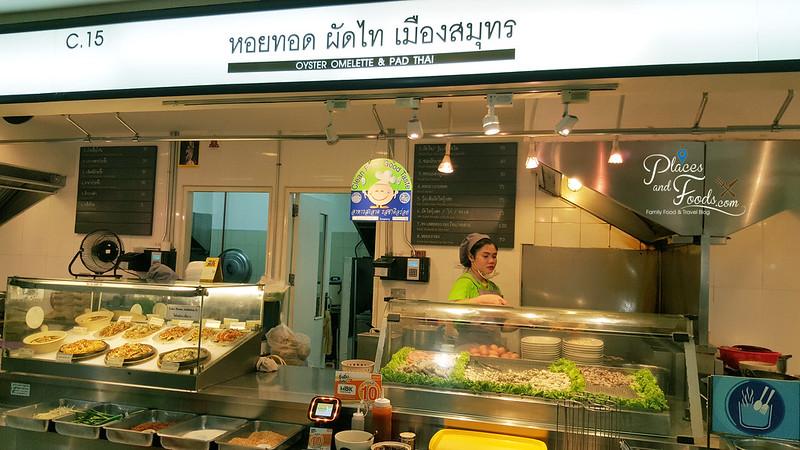 mbk food island pad thai stall
