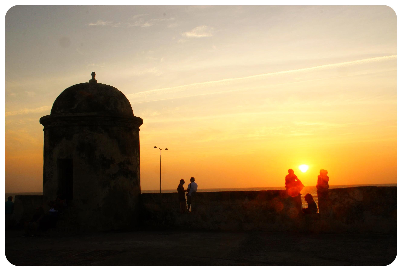 cartagena walls sunset