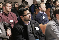 A wide cross section of students and faculty from a variety of disciplines on the OSU campus attended the App Center From Lab to Mobile networking event to learn how mobile apps and internet connectivity can aid researchers.