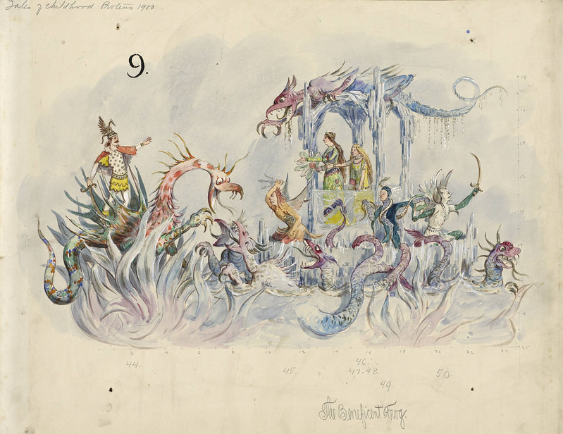 Bror Anders Wikstrom - The Beneficent Frog, float design from Krewe of Proteus, 1900