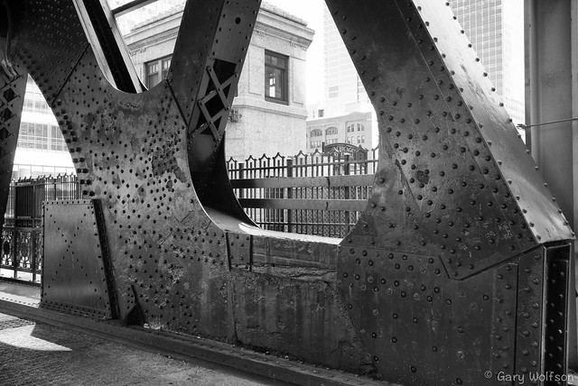 Chicago River Wells Street Bridge Iron Work