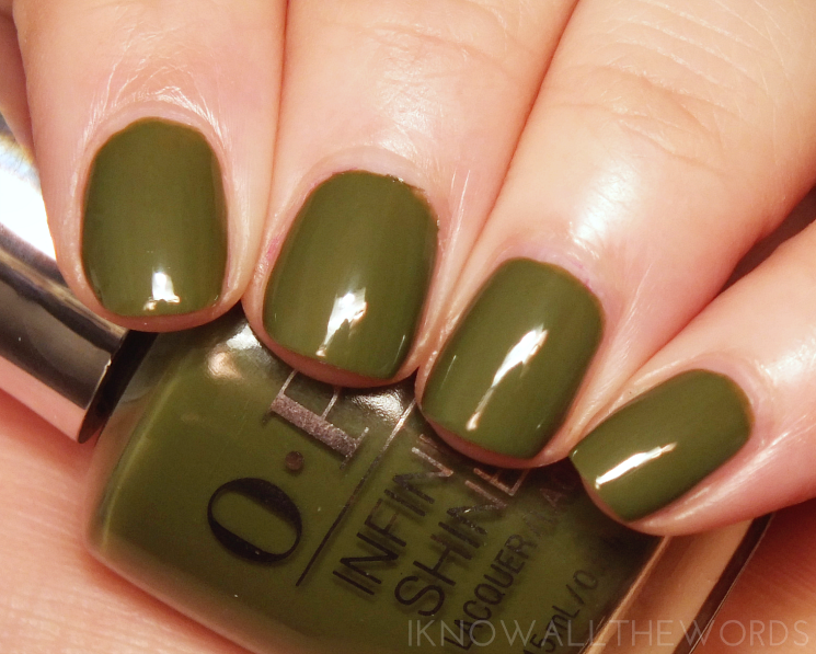 OPI Infinite Shine Olive for Green