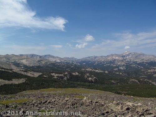 Views toward Wind River Peak from Roaring Fork Mountain, Wind River Range, Wyoming