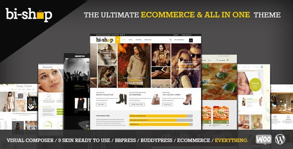 Bi-Shop v1.6.6 – All In One: Ecommerce & Corporate Theme