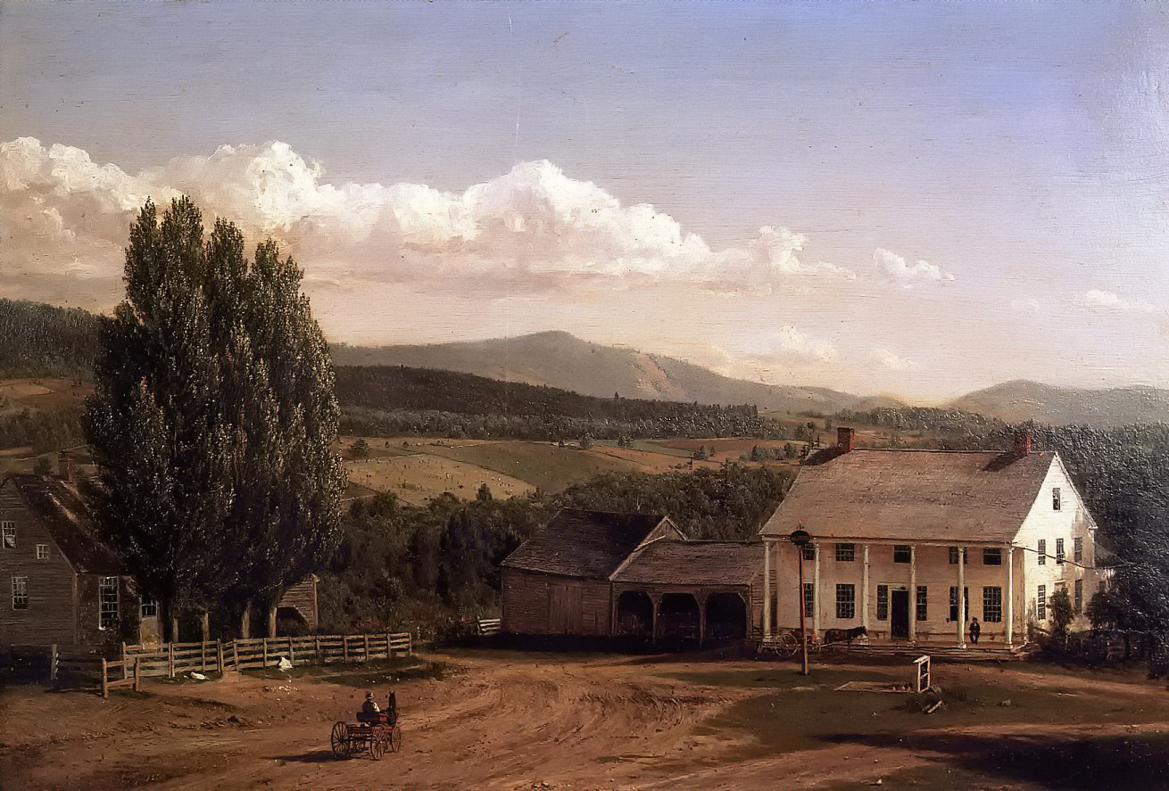 View in Pittsford, Vt. by Frederic Edwin Church, 1848