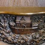 Miséricorde de la maîtresse stalle A 1 du doyen à la cathédrale d`Amiens