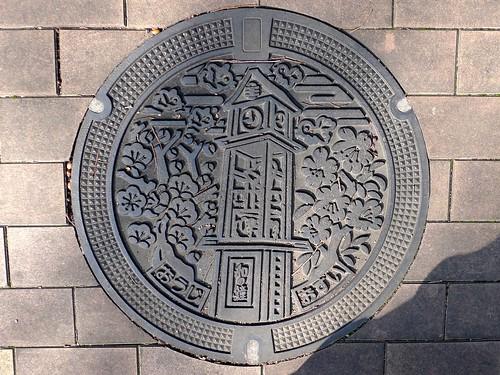 Oji Nara, manhole cover 2 (奈良県王寺町のマンホール2)