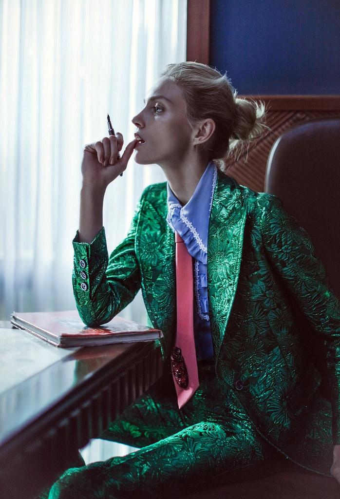 Аня Рубик — Фотосессия для «Vogue» CH 2016 – 3