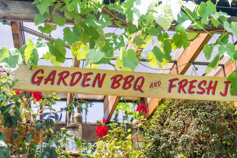 the grounds of alexandria garden BBQ sign
