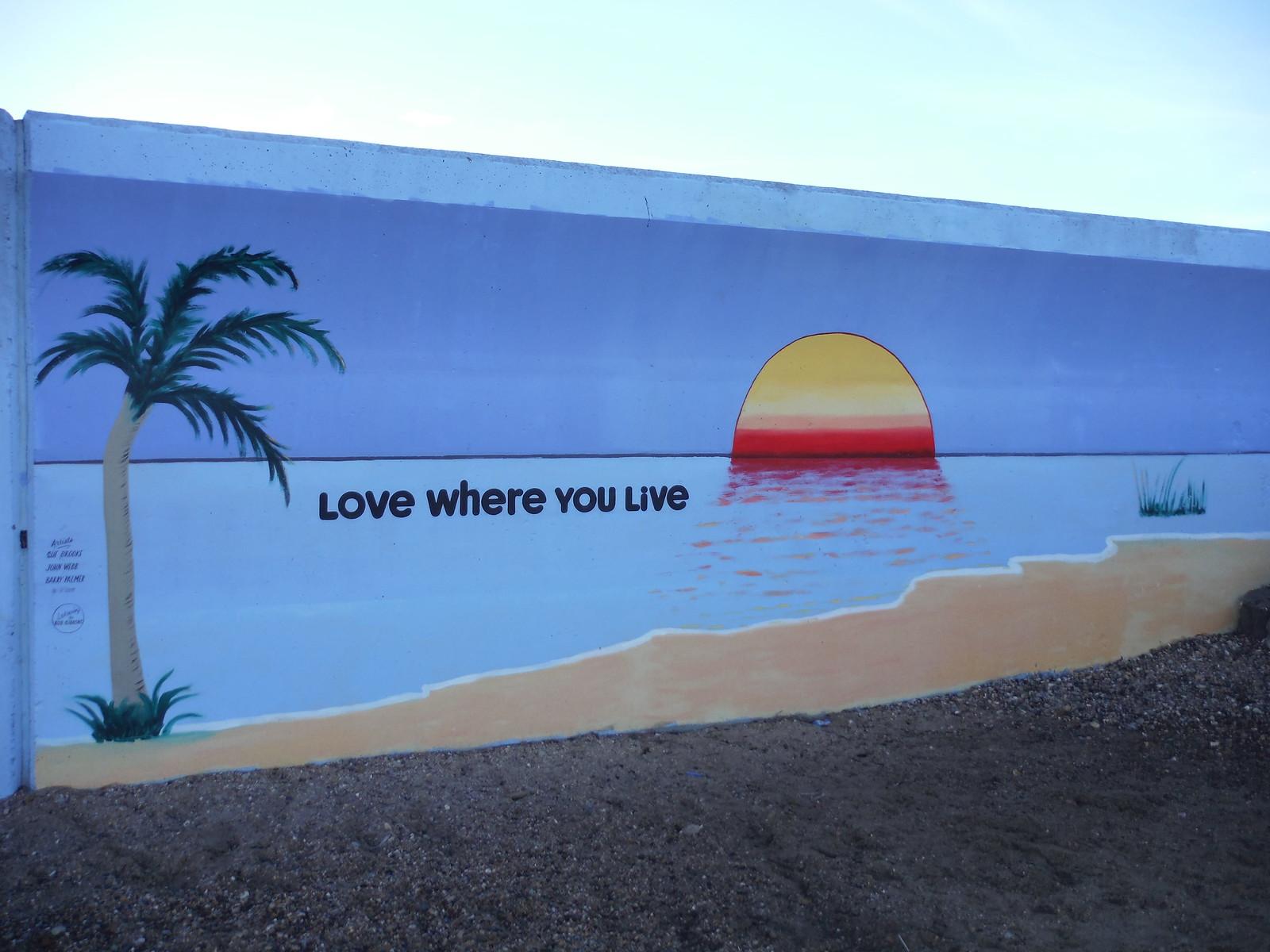 Mural on Thorney Bay, Canvey Island SWC Walk 258 Benfleet Circular (via Canvey Island)